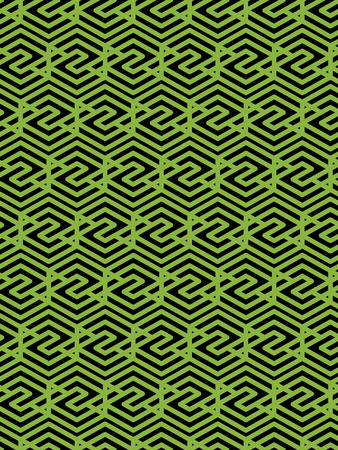 covering: Geometric symmetric lined seamless pattern, colorful vector endless background. Decorative net splicing motif texture. Overlay green ornate covering.