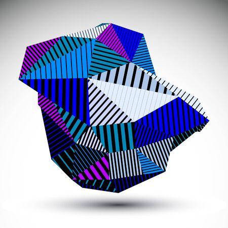 bright: Bright triangular abstract 3D illustration