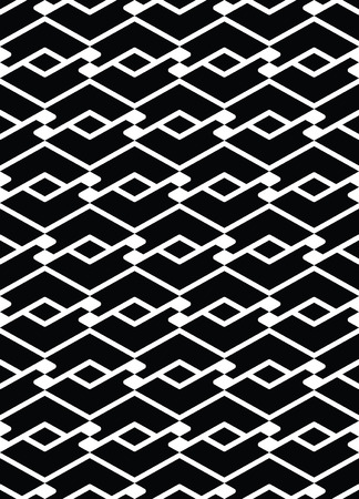 Monochrome endless vector striped texture, motif abstract contemporary geometric background. Creative intertwine symmetric continuous pattern. Vektorové ilustrace