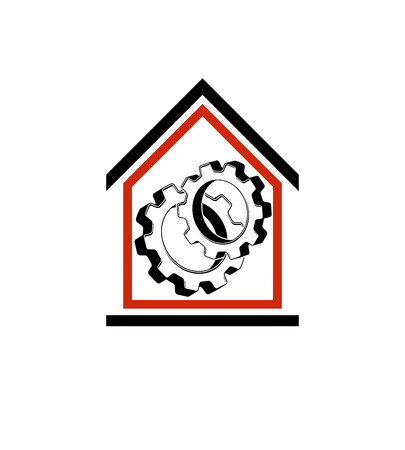conceptual symbol: Manufactory conceptual symbol, vector house