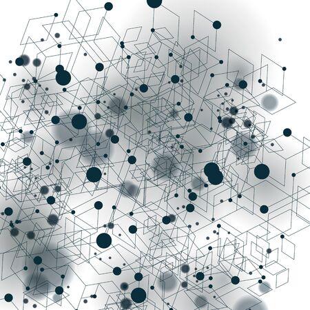 Geometric vector abstract 3D complicated op art backdrop