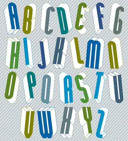 verbs: 3d font with good style, simple shaped letters alphabet, great font for design, advertising, web and headlines.