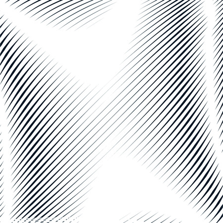 contrast: Decorative lined hypnotic contrast background. Optical illusion, creative black and white graphic moire backdrop.