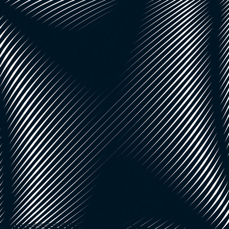 black line: Abstract lined background, optical illusion style. Chaotic lines creating geometric pattern with visual effects.
