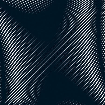 Fond abstrait bordée, style illusion d'optique. Lignes chaotiques créant motif géométrique avec des effets visuels. Banque d'images - 44791193