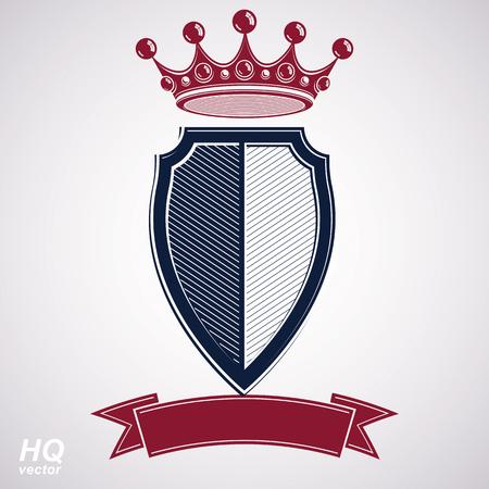 coronet: Empire design element. Heraldic royal coronet illustration