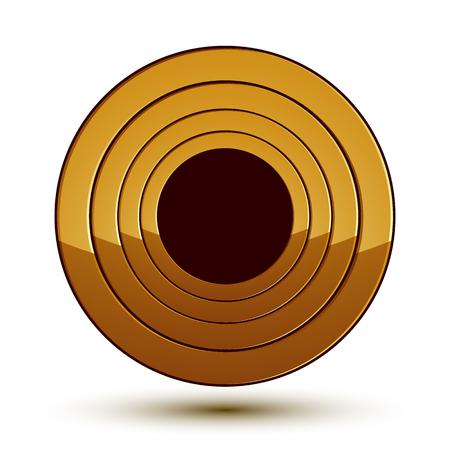 aurum: Sophisticated vector round emblem, 3d decorative design element, clear EPS 8. Illustration