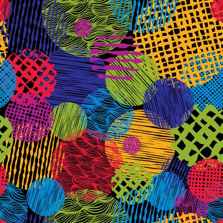 손으로 그린 라인 텍스처 그런 지 스타일 원활한 패턴, 벡터 손으로 그린 배경.