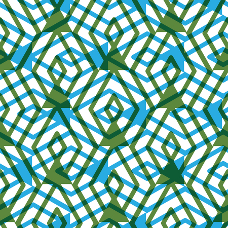 expressive: Geometric messy lined seamless pattern, bright transparent vector endless background. Green decorative maze expressive motif overlay texture. Illustration