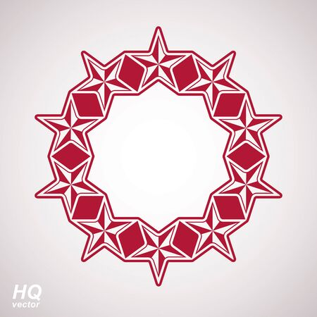 conceptual symbol: Vector union conceptual symbol. Festive design element with stars, decorative luxury template. Corporate branding icon, eps8. Illustration