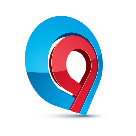 conceptual symbol: 3d abstract icon, vector business graphic design element. Innovation conceptual symbol. Illustration