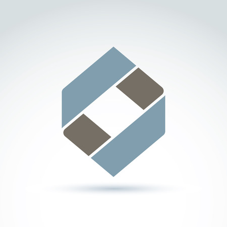 business symbol: Geometric abstract icon, abstract symbol, vector graphic design element.
