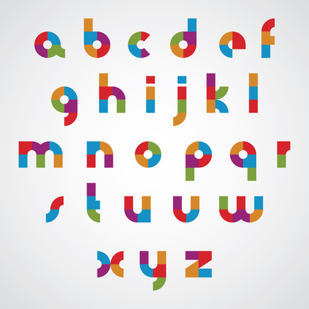 massive: Colorful sectored font with rounded lower case letters.