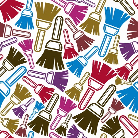 reparation: Seamless vector pattern with colorful renovation and repair instruments, brushes for wall painting. Graphic 3d reparation tools. High quality building theme continual background. Illustration