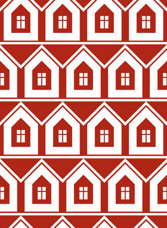 depiction: Simple houses continuous vector background. Property developer conceptual elements, real estate theme.  Building modeling and engineering projects idea seamless pattern.