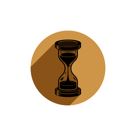 interim: Time without end conceptual vector icon, web design element. 3d antique hourglass isolated on white. Time management idea.