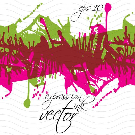 imprecise: Colorful splattered web design repeat pattern, art ink blob, multilayered paintbrush drawing. Bright graffiti expressive seamless background, eps10. Illustration