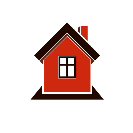 mansion: Simple house icon for graphic design, mansion conceptual symbo, vector property image. Real estate business abstract emblem.