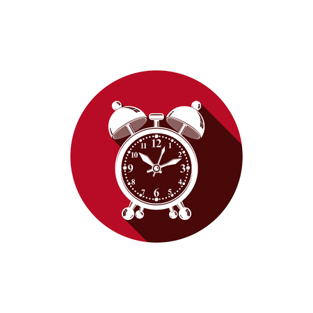 alarmclock: Alarm-clock 3d vector symbol, best for use in graphic design. Call the waiter concept. Time management theme. Illustration