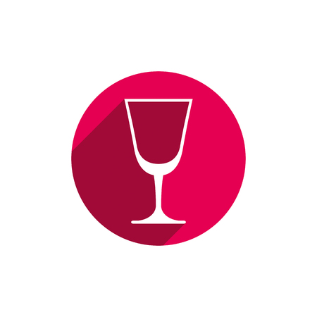 conceptual symbol: HoReCa graphic element, champagne glass. Alcohol theme conceptual symbol.