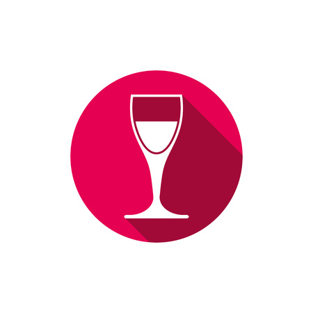 revelry: Winery theme, classic wine goblet isolated on white. Wine degustation conceptual symbol, design element.
