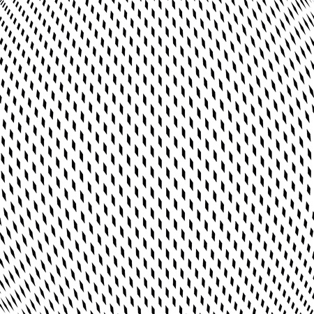 trance: Illusive background with black chaotic lines, moire style. Contrast vector geometric trance pattern, optical backdrop.