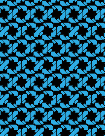 arrowheads: Seamless pattern with arrows, black and white infinite geometric textile, abstract vector textured visual covering. Overlay blue inspired geometric background with arrowheads. Illustration