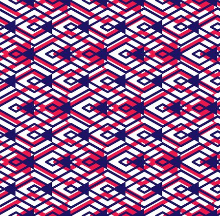 interweave: Bright abstract seamless pattern with interweave lines. Vector colorful wallpaper with stripes. Overlay endless decorative background.