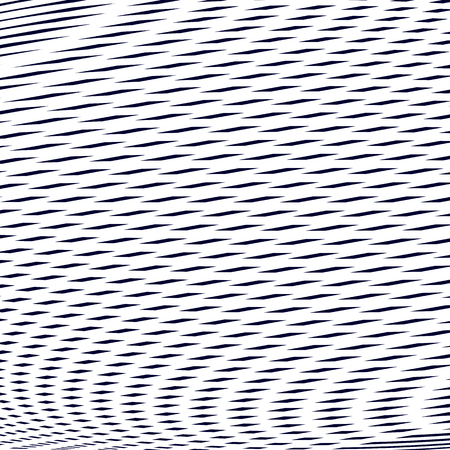 visual effects: Optical illusion, moire vector background, abstract lined monochrome tiling. Unusual geometric pattern with visual effects. Illustration