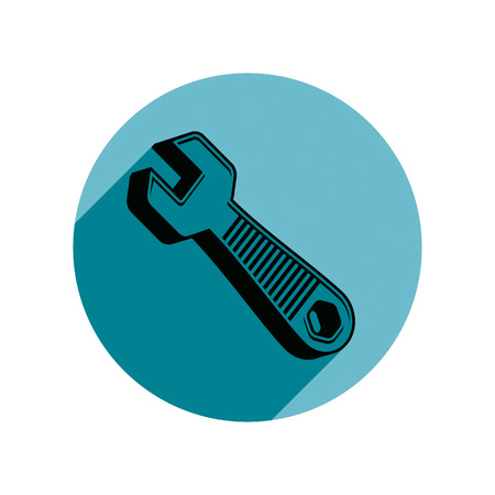 work tool: Classic wrench detailed vector illustration. Work tool, simple spanner. Repair instrument icon, best for use in advertising and design. Illustration