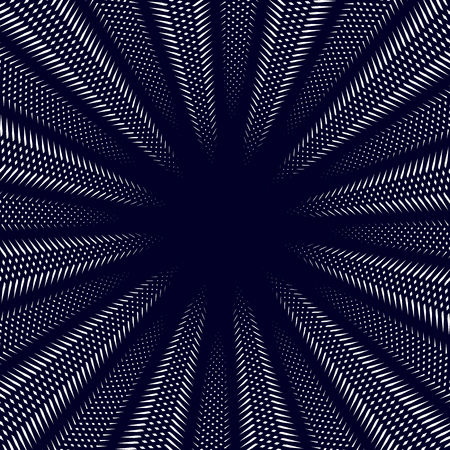 moire: Moire pattern, op art background. Hypnotic backdrop with geometric black lines. Abstract vector tiling.