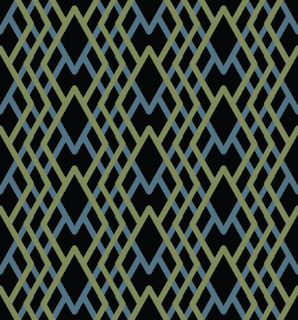 interlace: Colorful endless vector texture, motif abstract contemporary geometric background. Creative stripy symmetric continuous pattern.