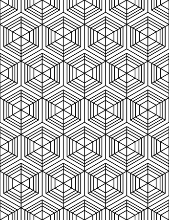 охватывающей: Black and white abstract textured geometric seamless pattern. Vector contrast textile backdrop with cubes and squares. Graphic contemporary futuristic covering.