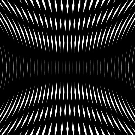 op: Op art, moire pattern. Relaxing hypnotic background with geometric black lines.