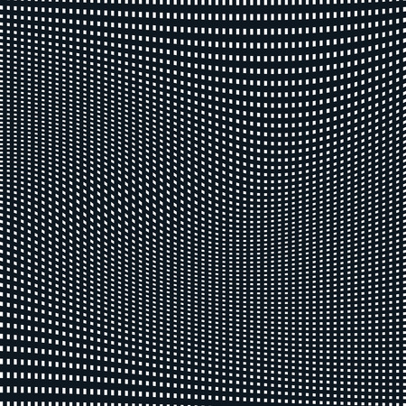 meditative: Abstract lined background, optical illusion style. Chaotic lines creating geometric pattern with visual effects.