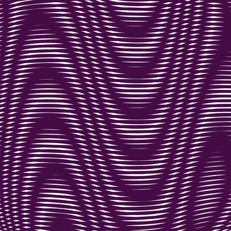 moire: Black and white moire lines, striped  psychedelic background.  Op art style contrast vectorpattern.