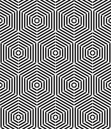 intertwine: Endless monochrome symmetric pattern, graphic design. Geometric intertwine optical composition.