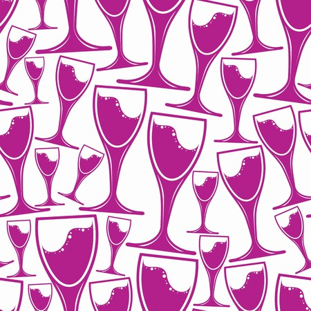 tasting: Winery theme vector seamless pattern, decorative stylish wine goblets. Wine tasting conceptual symbols, continual background for graphic design.