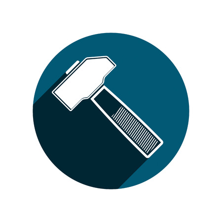 work tool: Detailed vector illustration of hammer, work tool. Illustration