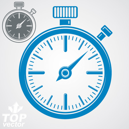 pocket watch: Vector classic stopwatch, additional version included. Eps 8 highly detailed vector illustration. Pocket watch conceptual symbol.