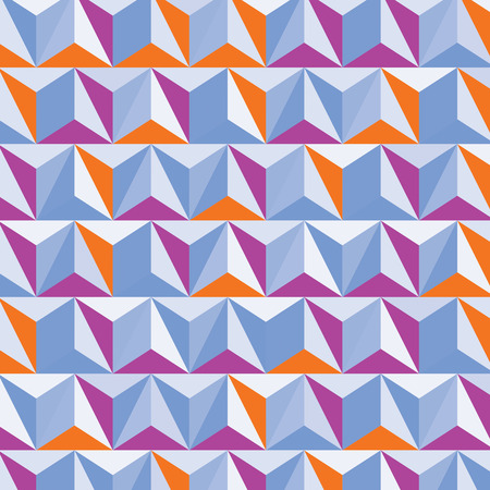 Modern digital construction, abstract dimensional background with geometric figures. 3d illusive perspective facet covering, eps10 vector complicated illustration. Op art backdrop.