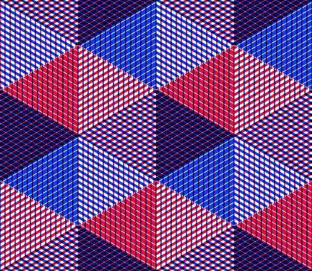 splice: Endless colorful symmetric pattern, graphic design. Geometric intertwine optical composition, clear EPS10.