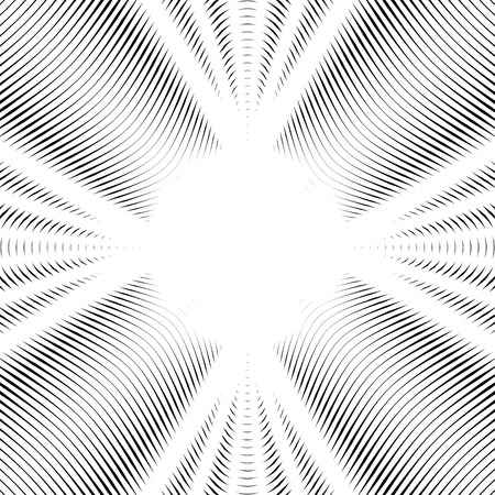 undulate: Optical illusion, moire vector background, abstract lined monochrome tiling. Unusual geometric pattern with visual effects. Illustration