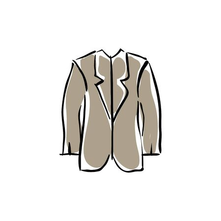 assistant: Illustrated vector medical robe, drawn laboratory assistant clothing.