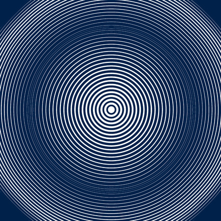 hypnotic: Moire style, vector optical pattern, motion effect tile. Decorative lined hypnotic contrast background.