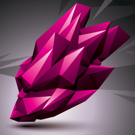apex: Asymmetric 3D abstract object, bright geometric spatial form. Render and modeling. Illustration