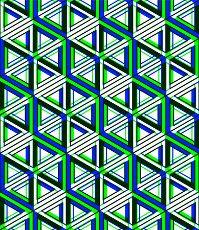 entwine: Contemporary abstract endless EPS10 background, three-dimensional repeated pattern. Decorative graphic entwine transparent ornament.