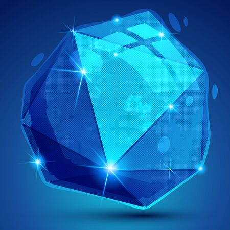 complex: Contemporary plastic pixel dimensional object created from geometric figures, shiny dotted complex futuristic 3d model.