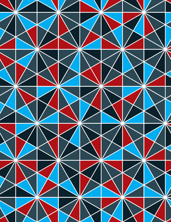 Colorful abstract textured geometric seamless pattern with geometric figures. Vector bright textile backdrop. Vektorové ilustrace