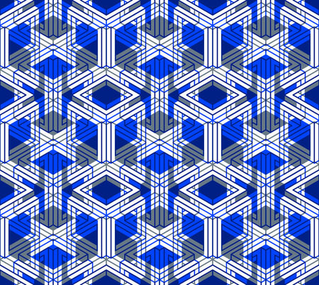 Colorful illusive abstract geometric seamless 3d pattern with transparency effects. Vector stylized infinite backdrop, best for graphic and web design, EPS10. Vektorové ilustrace